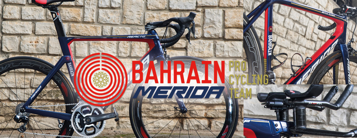 BAHRAIN MERIDA Pro Cycling Team - Die Bikes 2017