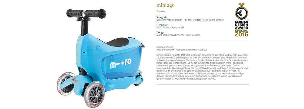 mini2go - German Design Award Special 2016
